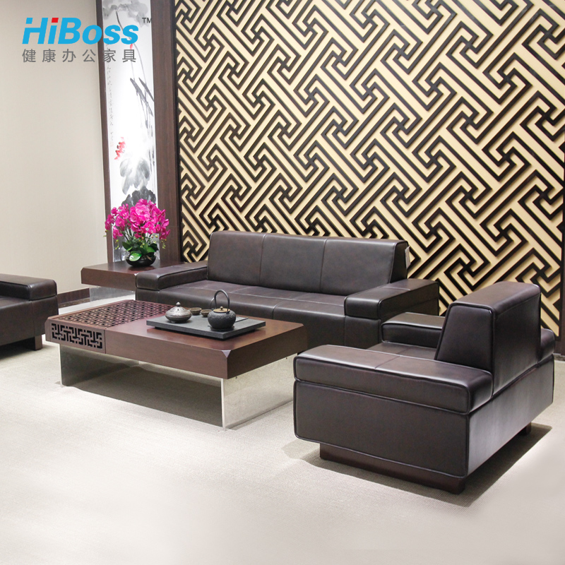 [Hiboss] office furniture office sofa table combination of the managing director of the room to be connected to the parlor sofa sofa