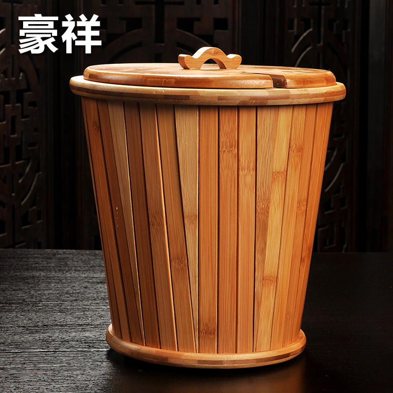 Ho cheung kung fu tea bucket bucket bucket bamboo tea tray accessories wastewater consider waste bucket bucket bucket bucket of tea