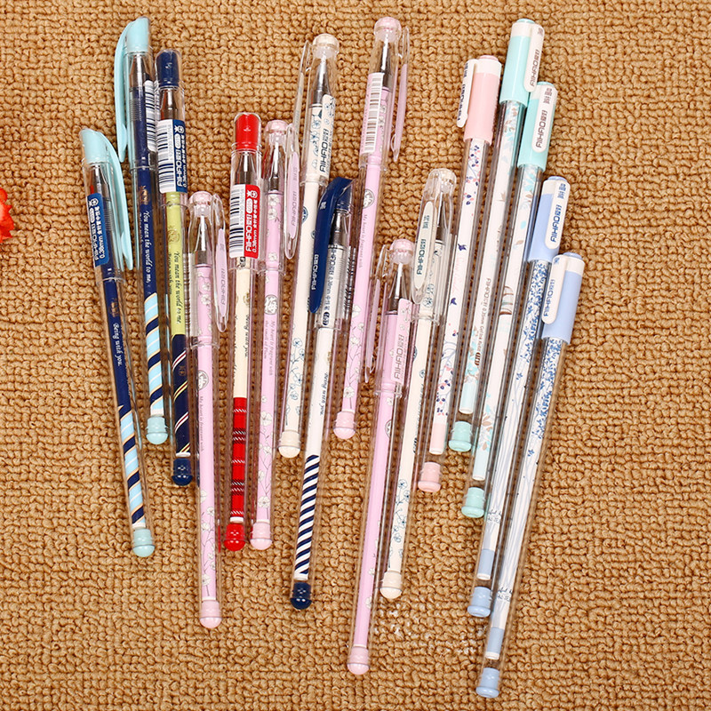 Hobbies gel pen gift stationery cartoon pen student cute needle black and blue 0.35/0.380.5