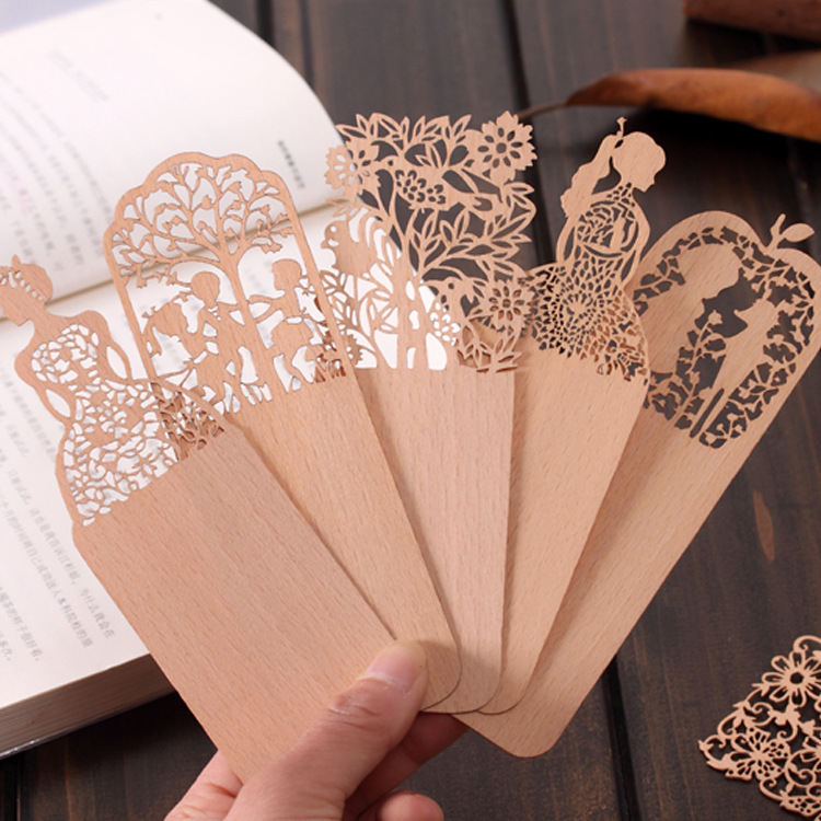 Hollow wooden bookmark bookmark bookmark creative cute cartoon bookmark exquisite chinese style retro bookmark student prizes supplies