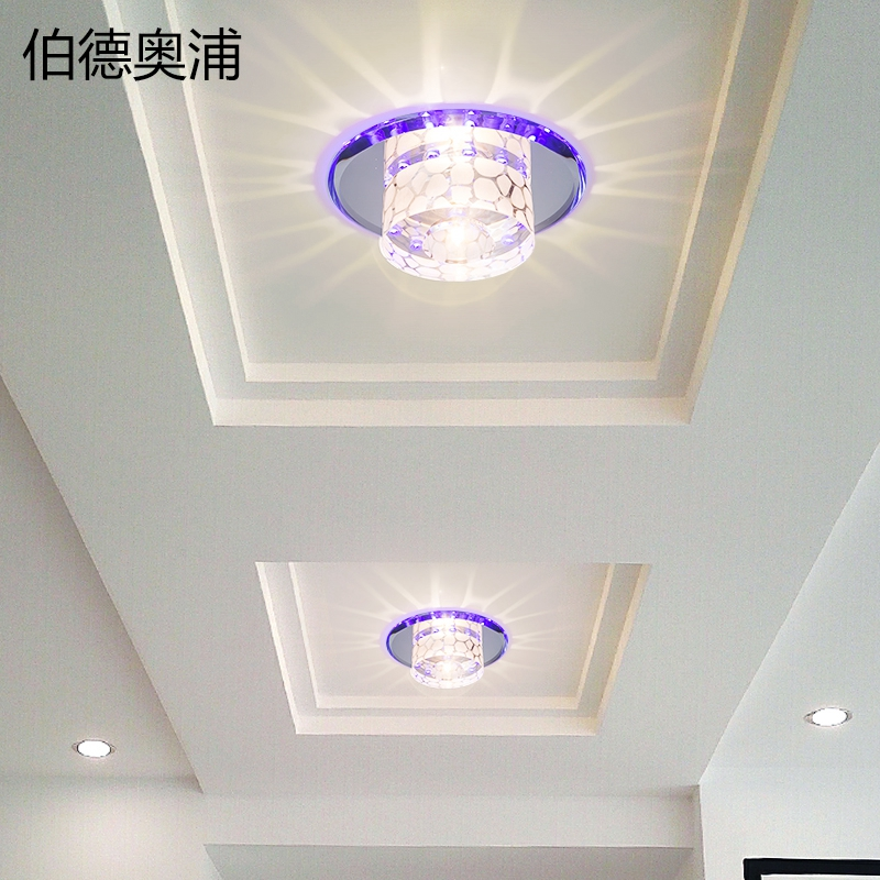 Home lights aisle entrance hall aisle lights balcony lights corridor lights crystal downlight spotlight led day