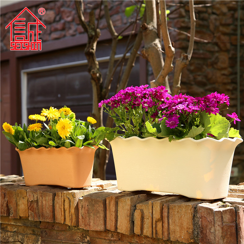 Honesty resin plastic rectangular pots pots large plastic pots vegetables balcony planters planting
