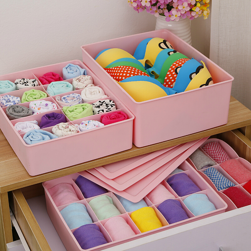 Honey honey flower thick covered plastic pants within bra socks underwear storage box desktop storage box storage consolidation