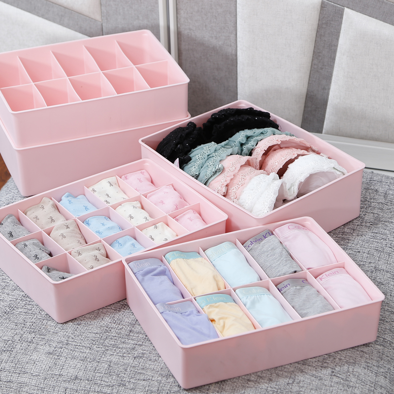 Honey honey flower underwear storage box covered three sets of three plastic socks underwear drawer box storage box finishing bags Shipping