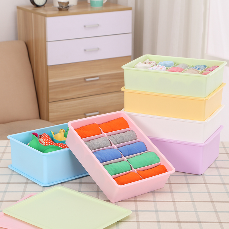 Honey honey flower underwear storage box covered three sets of three plastic storage box storage drawer finishing box bra tights