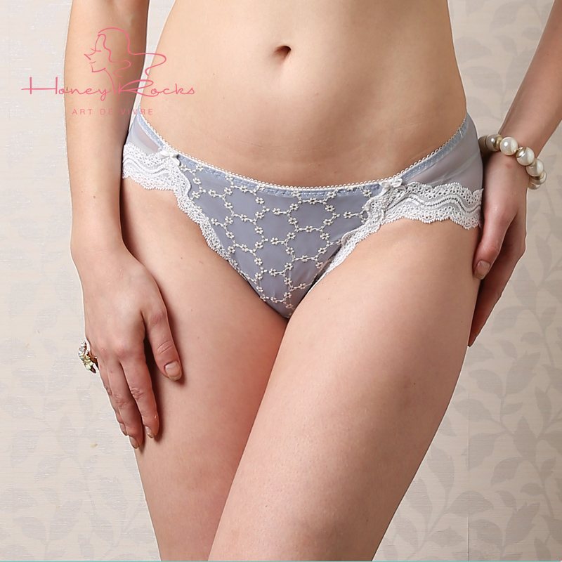 Honey rocks/honey rock embroidered lace sexy low waist pack hip briefs