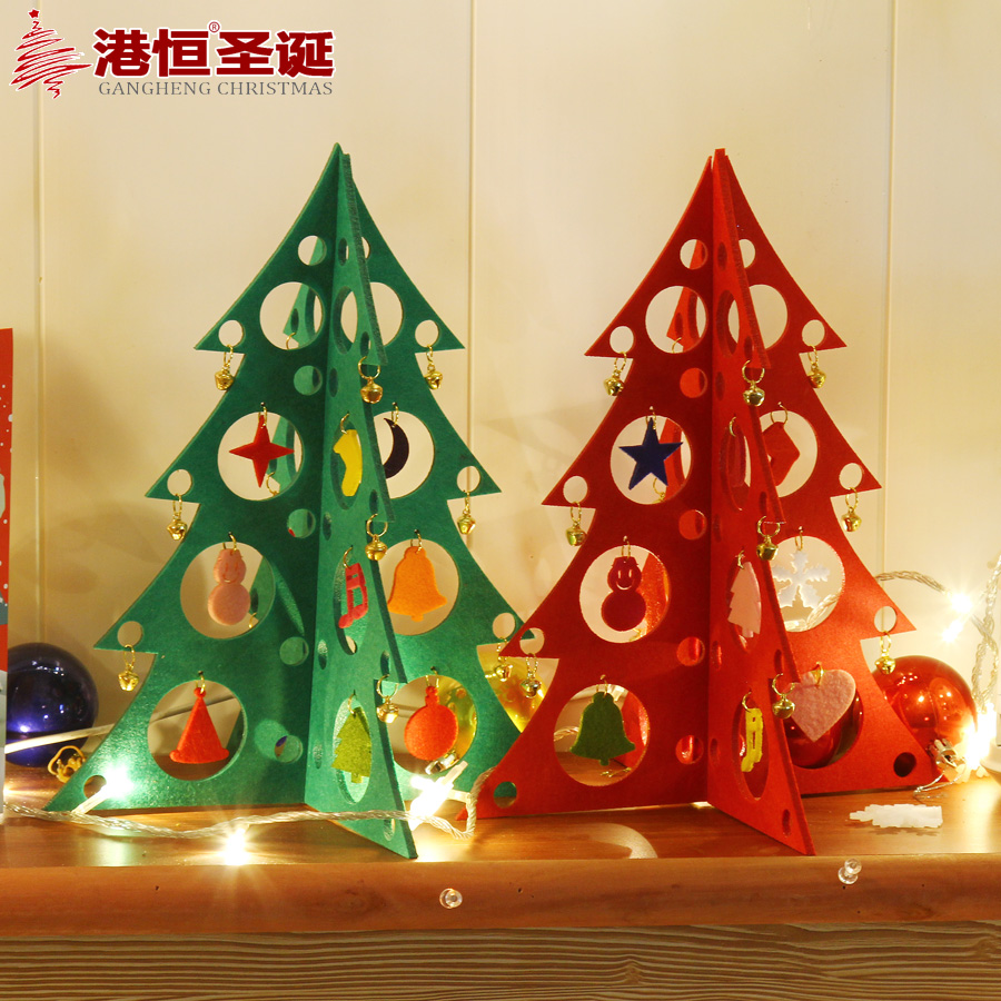 Hong kong hang christmas decorations x 25cm foam pvc hollow green red christmas tree tops decorated christmas tree