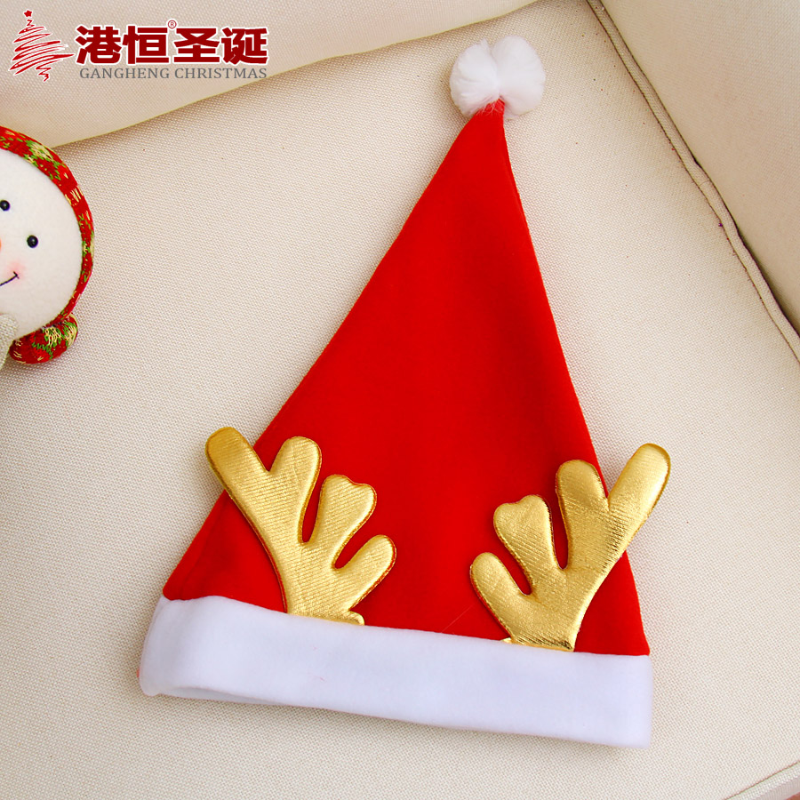Hong kong hang wovens thicker section orgiastic antlers christmas hats christmas gifts christmas supplies christmas hats 40g