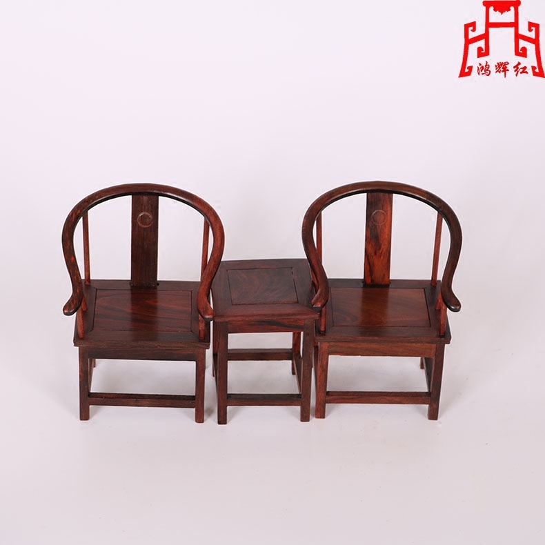 Honghui red mini miniature furniture rosewood mahogany wood crafts wood carving chair furniture small ornaments