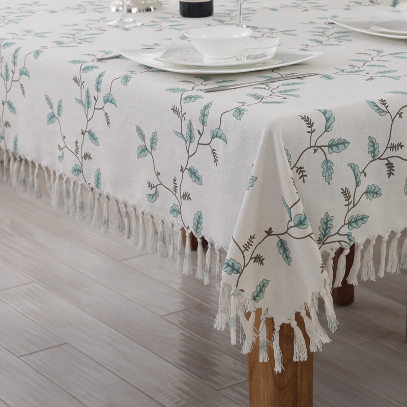 Hope accompanied idyllic small fresh cotton cloth tablecloth dining chair cushion suit european and american style rectangular coffee table tablecloth