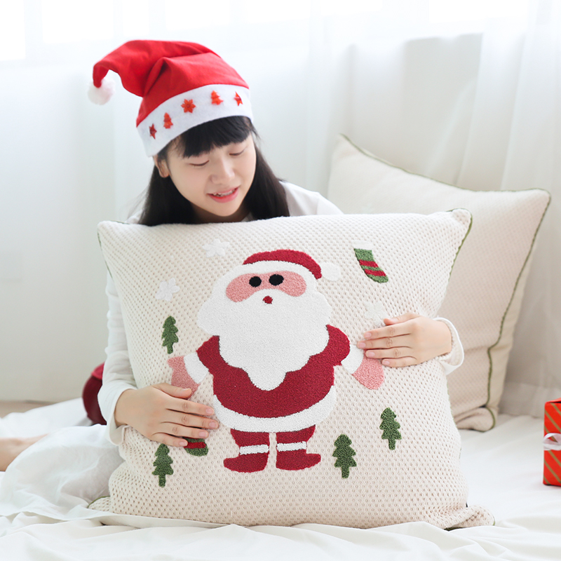 Hope life big pillow santa claus christmas holiday dress girlfriends classmates and friends gifts 65*65 including heart
