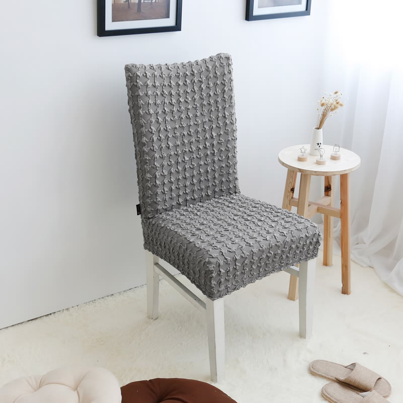 Hopewell centuries solid houndstooth stretch minimalist dining chair coverings siamese chair office chair office chair cover can be customized
