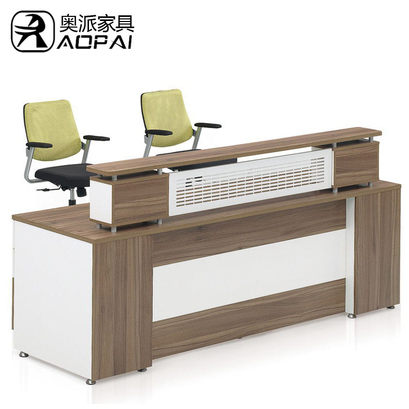 Hot austrian office furniture company reception desk reception desk reception desk fashion plate size can be customized