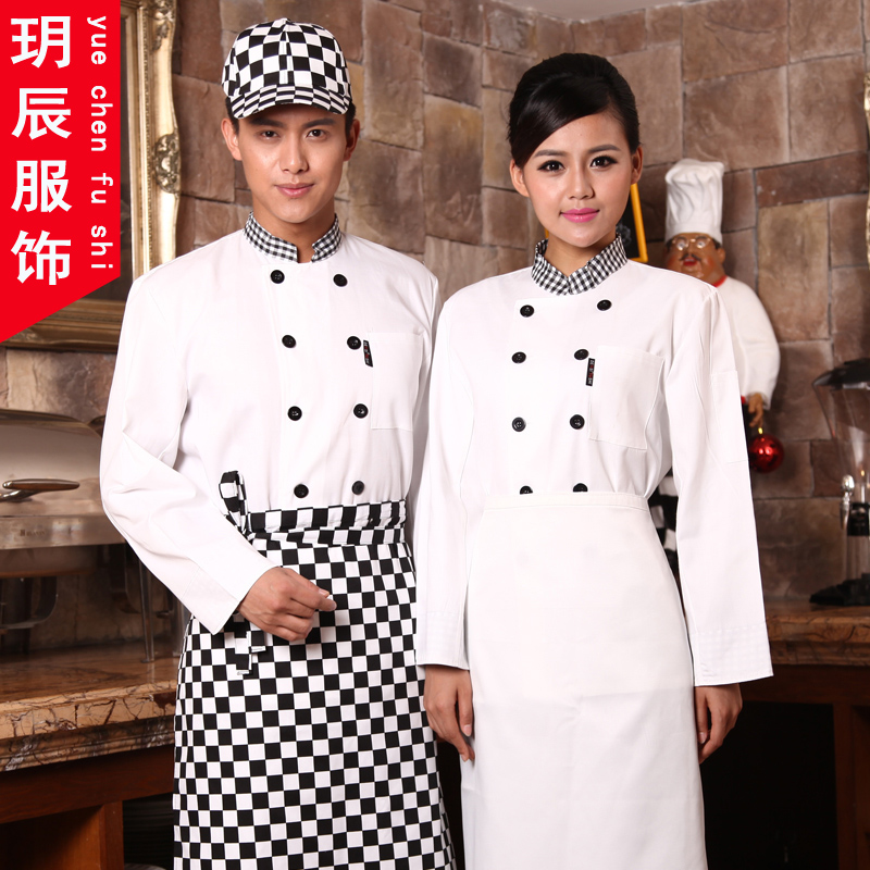Hotel chef service hotel chef clothing chef chef clothing long sleeve fall and winter clothes kitchen chef service hotel chef