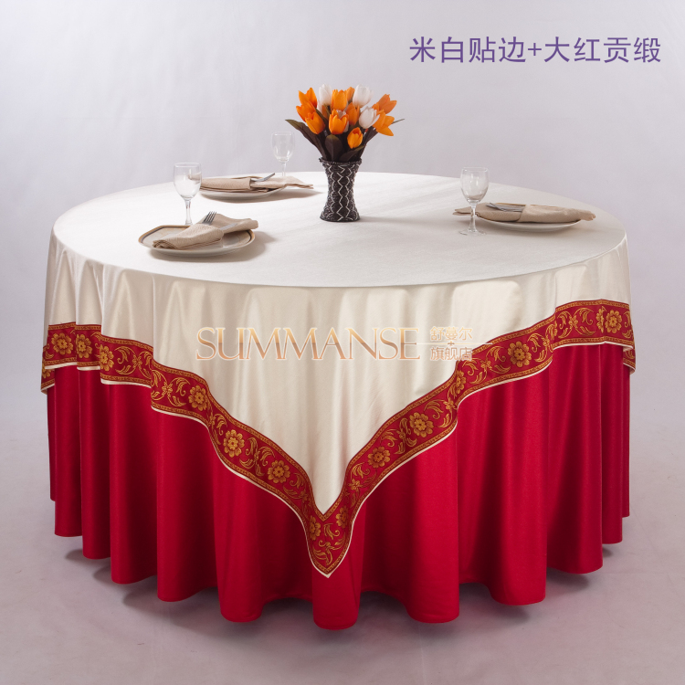 Hotel linen tablecloth restaurant round chinese hotel wedding banquet tablecloths ethnic don't villa clubhouse table cloth custom