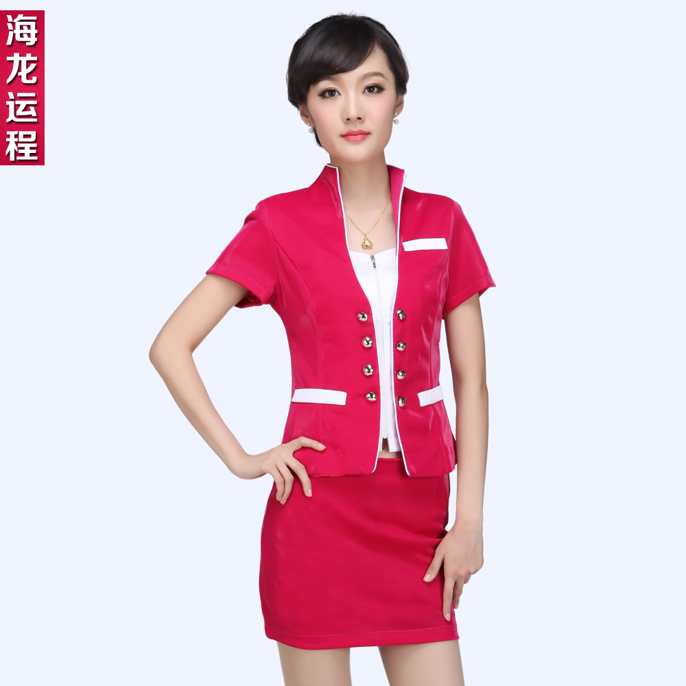 Hotel uniforms summer female stewardess uniforms career suits beautician overalls summer clothes new technician uniforms