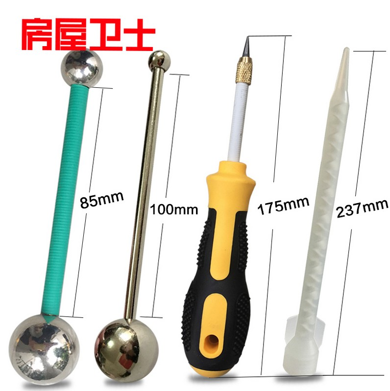 Housing guards america seam agent tools tungsten steel slotted cone is clear seam seam pressure to pull the seam steel ball mixing glue Mouth tube