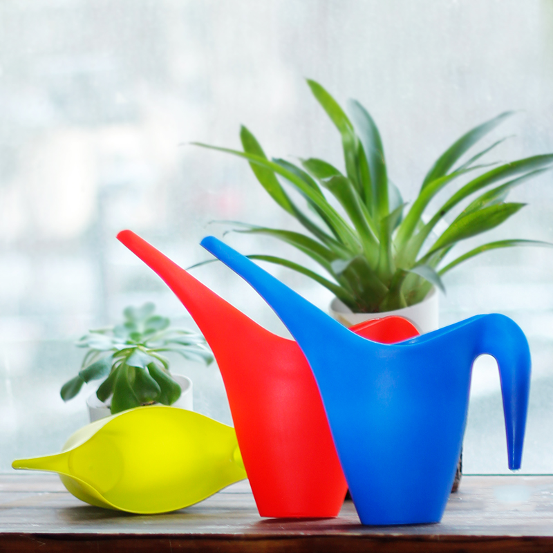How beautiful dish gardening watering watering can pouring kettle 1l plastic resin simple solid color sprinkler damaged baopei