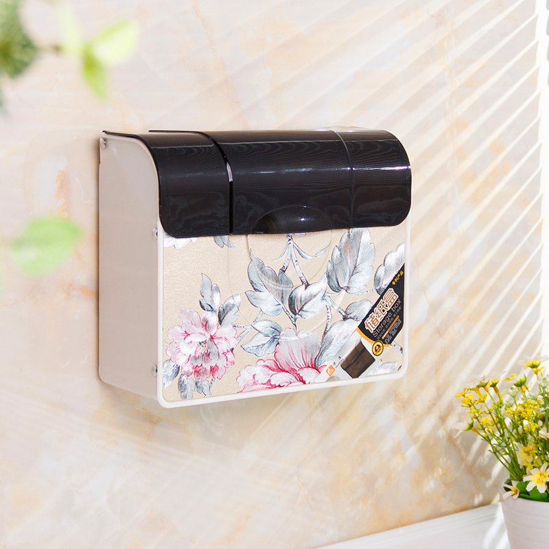 Hp/china ping plastic bathroom wall toilet paper toilet paper cassette toilet tissue box storage box free drilling installation
