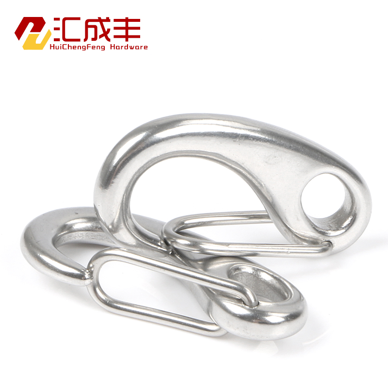 Hsbc merged into 304 stainless steel egg oval hook wire rope shackle elliptical spring shackle buckle quickdraw