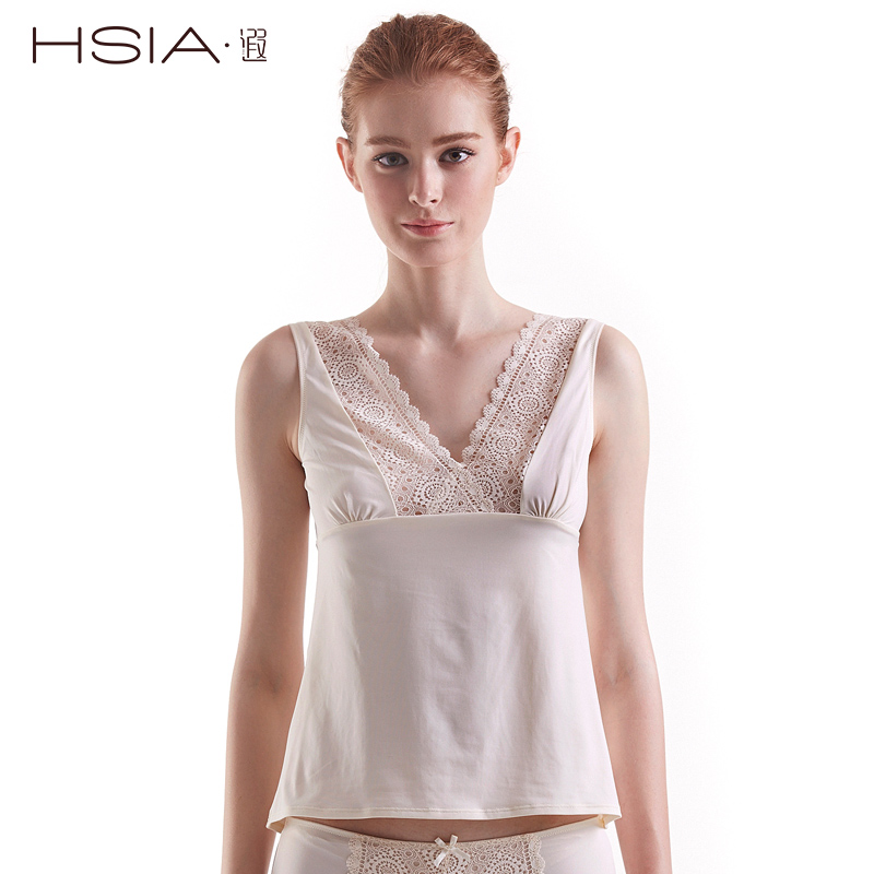 Hsia ya halter deep v front and back design elegant and sexy fashion bottoming shirt vest straps lace lou empty
