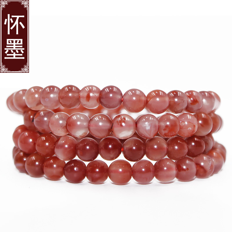 Huai inké¢liangshan south onyx bracelets 108 male ms. bracelet ice floating red stone beads necklace sweater chain