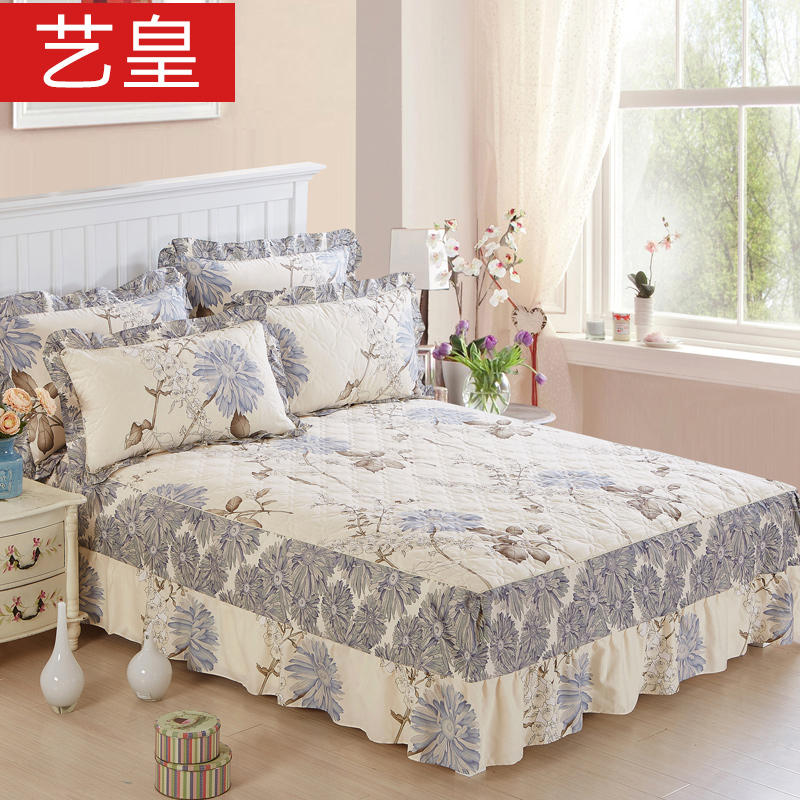 Huang yi cotton quilted bed skirt single piece of cotton bedspread bed cover bed plus cotton protective cover bed cover bed 1.5m1.8 m