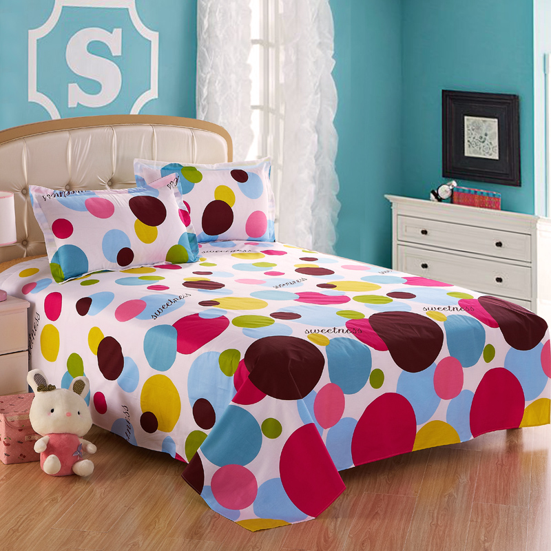 Huang yi cotton sheets thick single piece of cotton bed linen cotton single student dormitory double 1.5m1.8 m 2.0