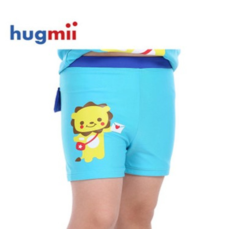 Hugmii summer boys swim shorts big boy baby child cartoon boxer swim trunks swimming trunks swimming trunks free shipping