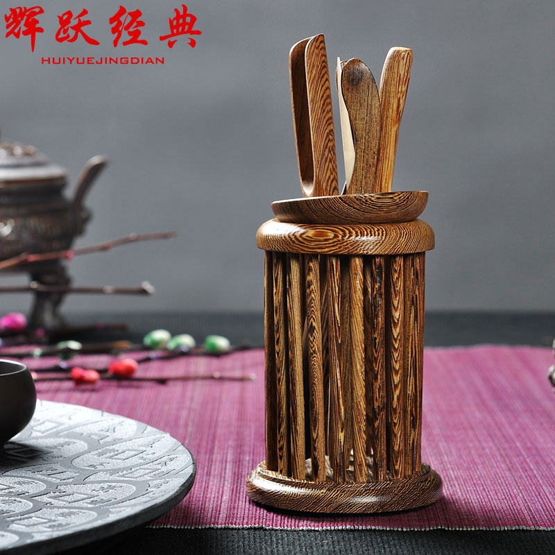 Hui yue classic kung fu tea accessories wenge wood liujunzi wenge liujunzi tea tea tea clip needle tea