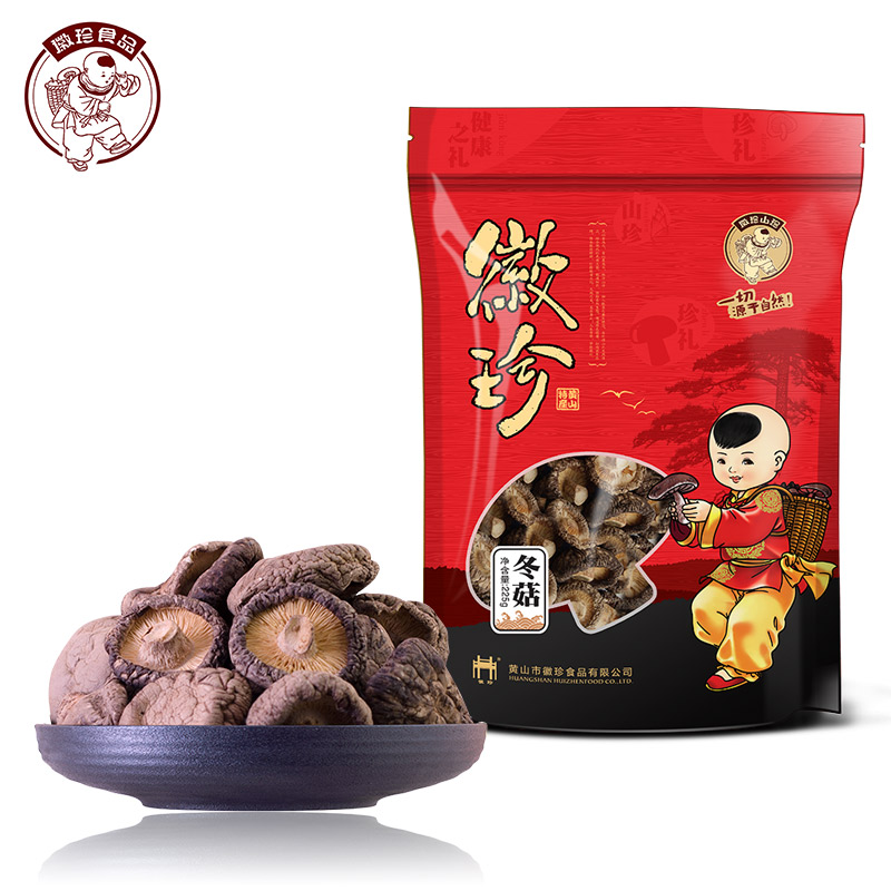 Hui zhen dry mushrooms dried mushrooms dry mushroom farm specialty mushrooms mushrooms dry goods north and south wholesale 22 5g