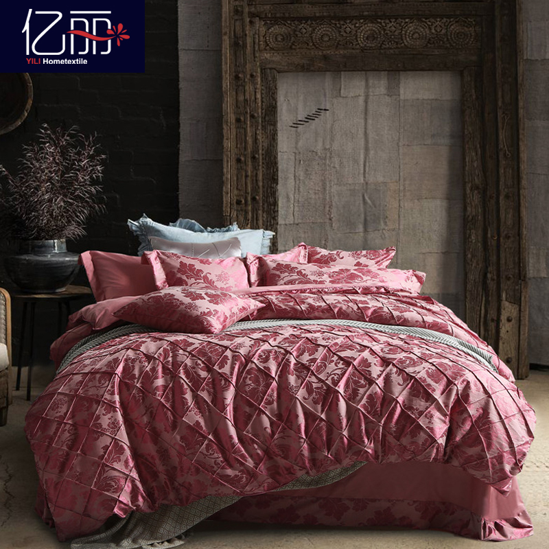 Hundreds of millions of liesl s european and american cotton satin jacquard denim wedding quilt kit m bedding ws