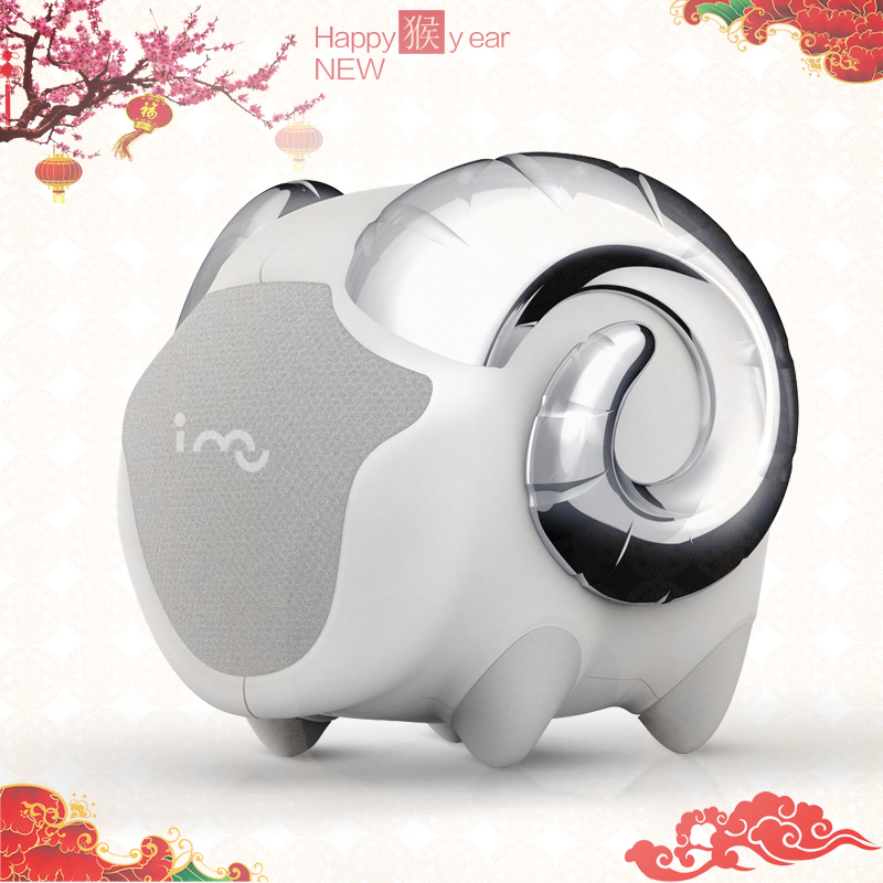 I-mu/magic ring sheep creative bluetooth speaker wireless bluetooth stereo subwoofer portable mini speaker creative