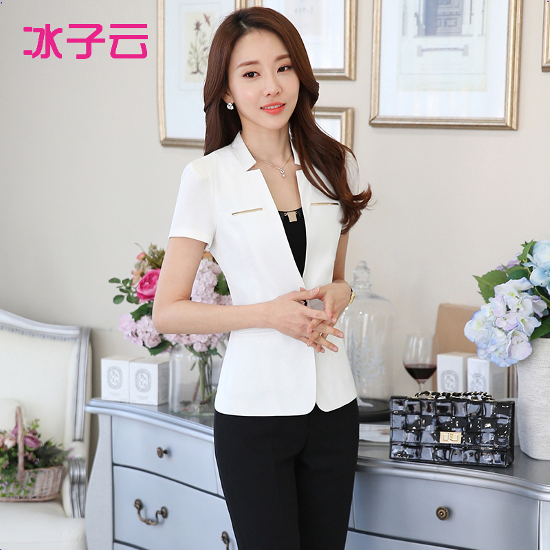 Ice clouds child 2016 spring and summer suit suit ms. career suits slim suits overalls female