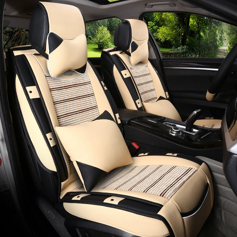 Ice silk car seat four seasons general 14/15/16 four seasons general volkswagen lavida full surround cushion covers