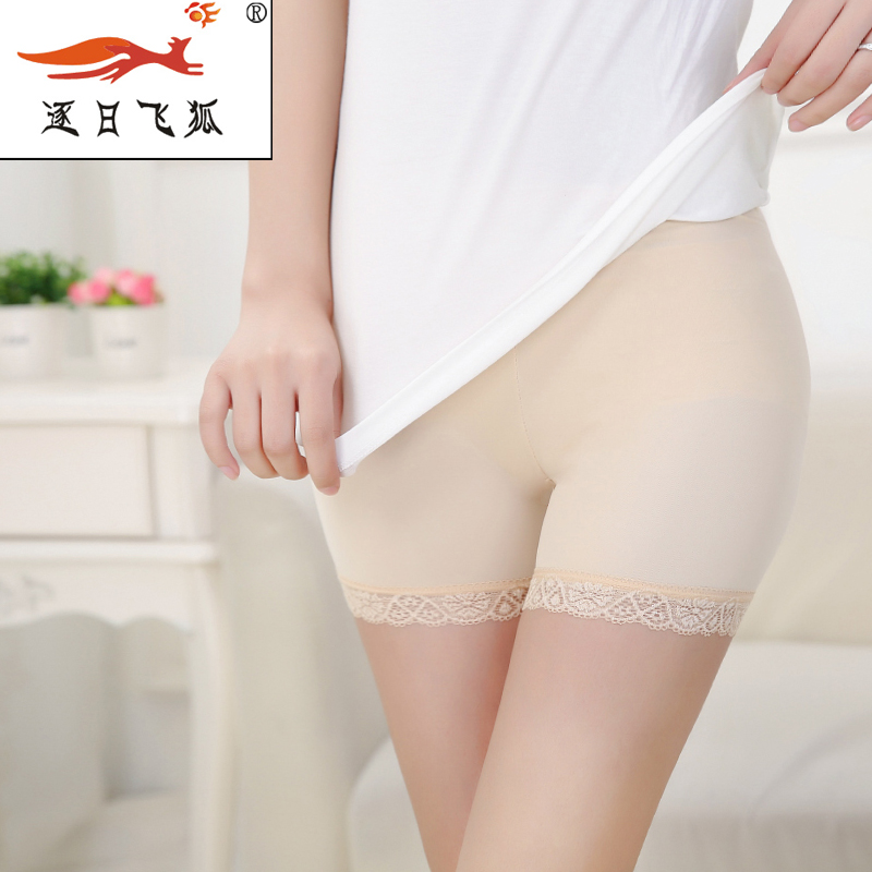 Ice silk lace safety pants ms. bottoming anti emptied sexy female safety pants ladies underwear woman