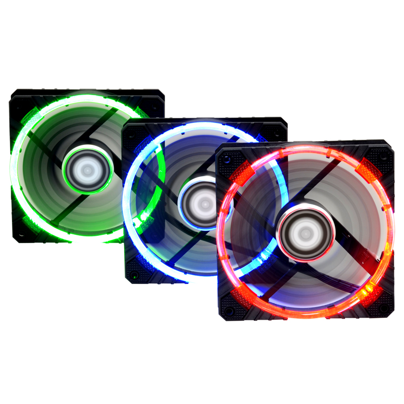 Id-cooling the sunlightdims cf12025 dual aperture stunning quiet thermostatically controlled fan cooled chassis fan