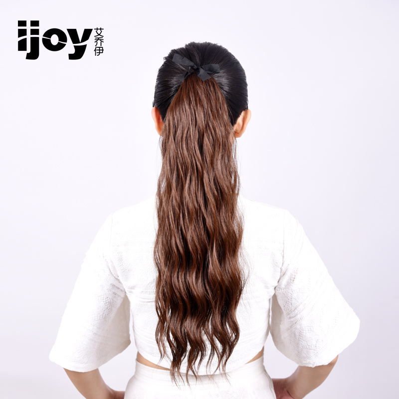 Ijoy joey em strap style straight hair ponytail wig ponytail wig long curly hair natural and realistic long short paragraph