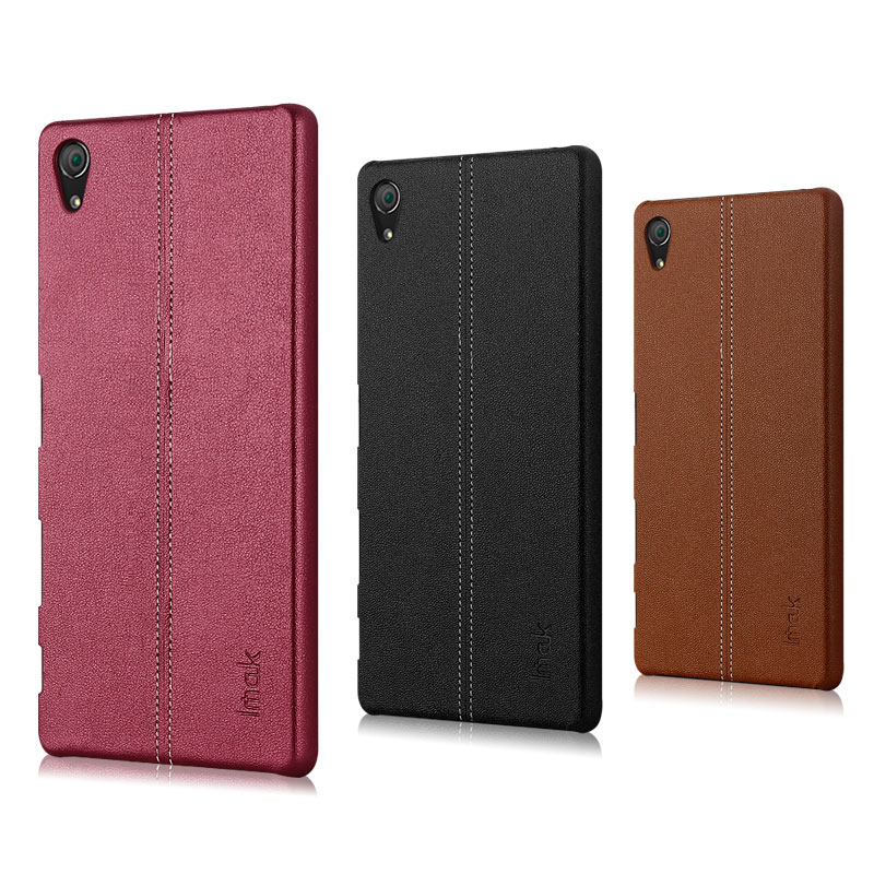 Imak sony z5 + Z5Premium color leather cell phone holster shell protective sleeve back shell thin plain jane