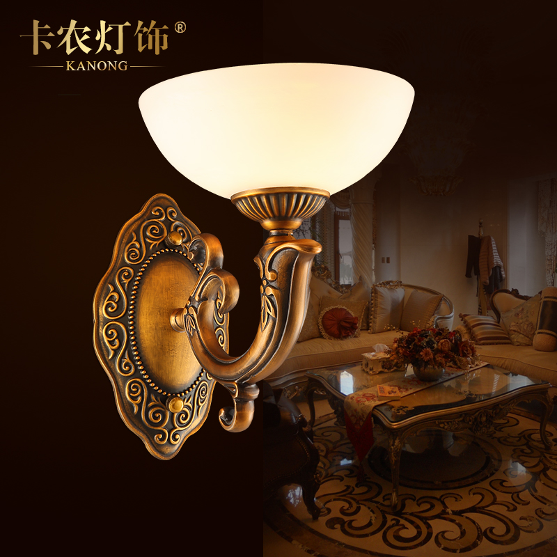 Imitation of natural marble wall lamp wall lamp european copper wall lamp wall lamp bedside lamp bedroom den living room wall lamp wall lamp creative wall lamp j