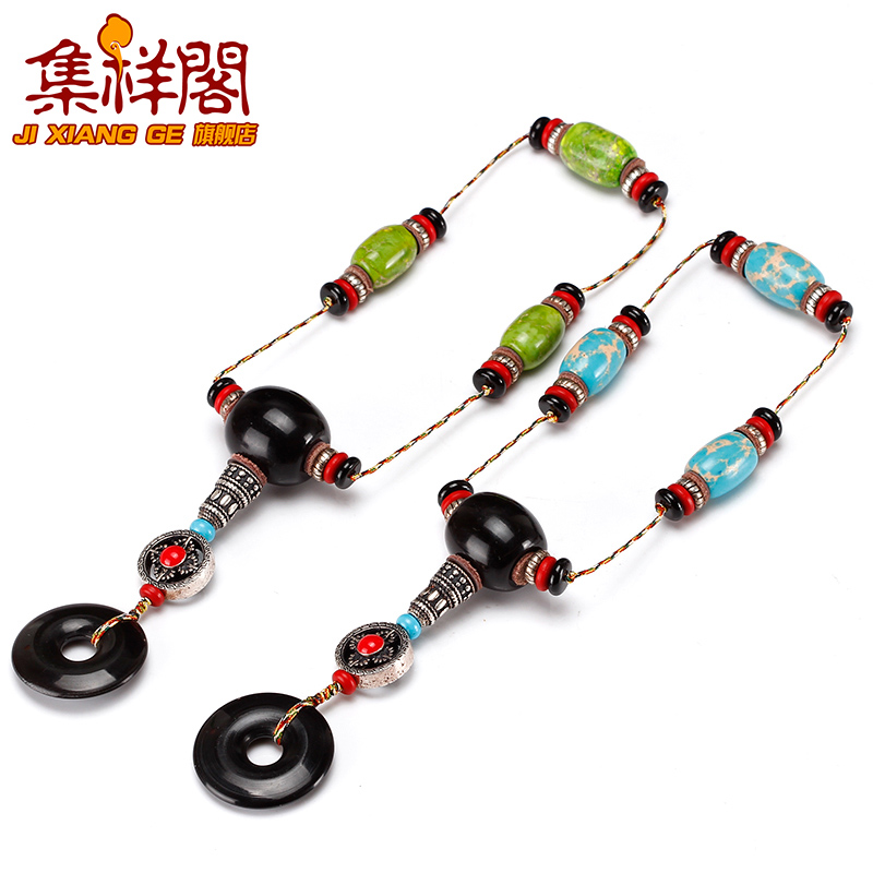 Imperial stone barrel beads loose beads black horns tee buddha head beads peace buckle diy accessories xingyue accessories package