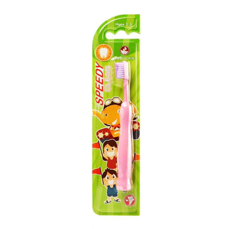 Imported from thailand twin lotus twin totus festoon spiral soft bristle toothbrush for children to plaque years old guard gingival