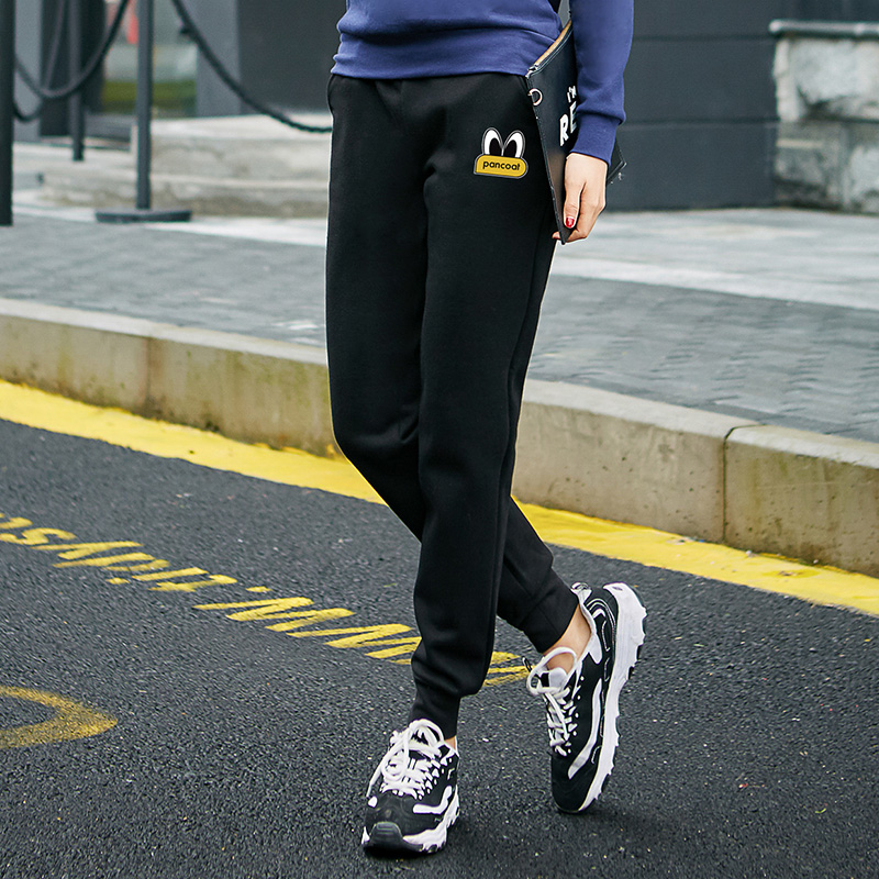 In summer and autumn thin section sports pants female wild korean version of casual pants feet slim was thin terry pure cotton shut pants female guard