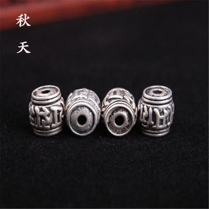 In the autumn of diy jewelry accessories tibetan silver spacer beads mantra barrel bead spacer beads gold just xingyue bodhi accessories