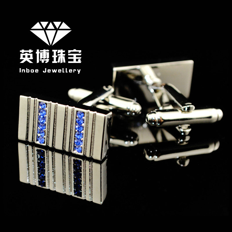 Inbev cufflinks blue crystal cufflinks silver cufflinks french shirt cufflinks cufflinks men