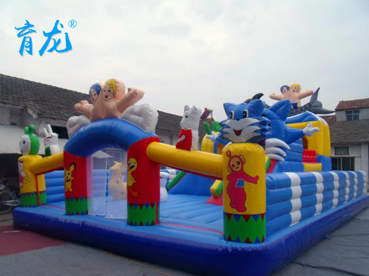 Indoor and outdoor children's cartoon theme park inflatable castle square park outdoor inflatable toys for children custom size