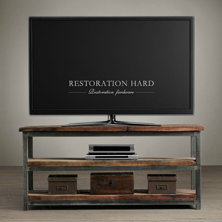 Industrial loft style furniture european minimalist tv cabinet tv cabinet american country living room bedroom black rh retro