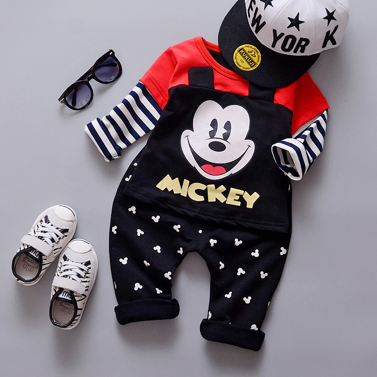 Infants and young children baby spring clothing spring out 0-1-2-3-year-old men and women suit 2016 new children's suits