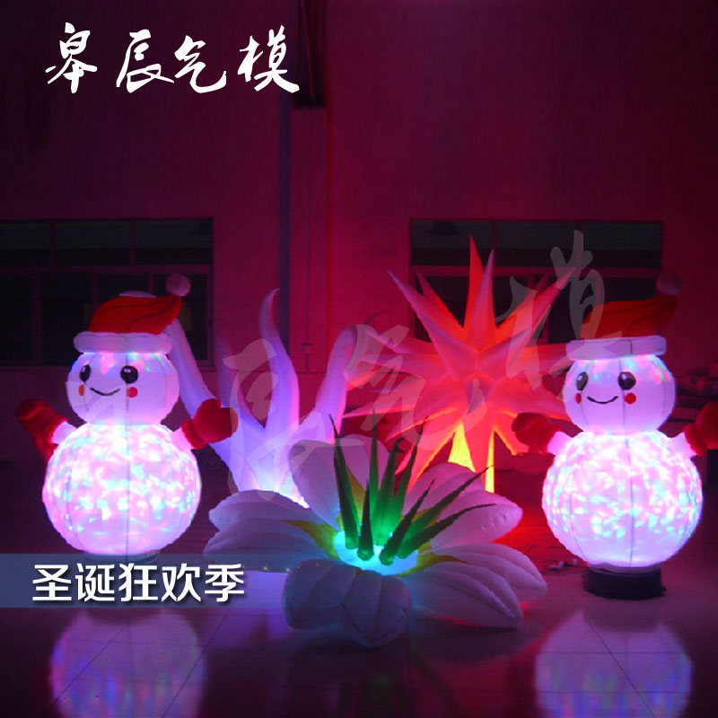 Inflatable christmas inflatable santa claus inflatable christmas snowman mall lighting inflatables inflatable cartoon