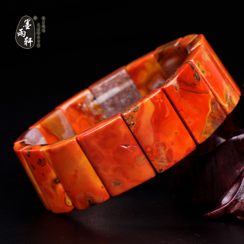 Ink yu xuan warring states red agate bracelet bracelets natural red graeve beipiao sengoku red mineral tablets 20 beads bracelets hand